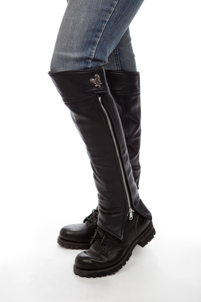 knee height half chaps