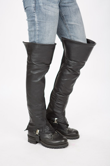 Women S Thigh High Leather Half Chaps Lissa Hill Leather