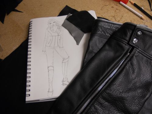 Sally's Sketch and Matching Half Chaps