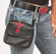 Riding Purse with red snake cross appliqué