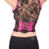 Leather & Lace Vest in pink