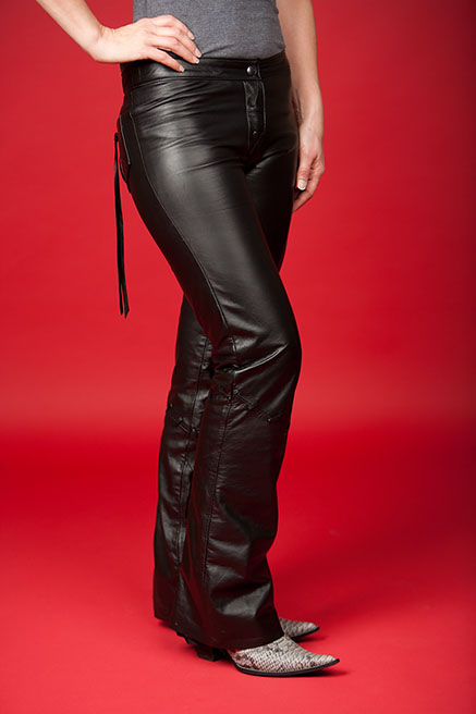 Custom Leather Pants by Lissa Hill