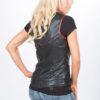Scoop Neck Leather Vest