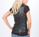 Scoop Neck Leather Vest
