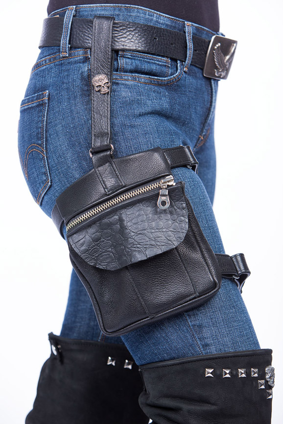 Leather Thigh Holster Bag