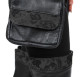 Leather & Lace Riding Purse in black