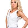 Women's White Leather Vest